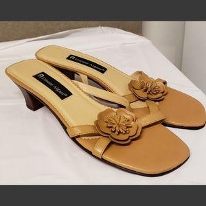Etienne Aigner Beige Flower Heels